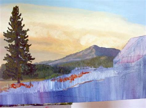 how to paint a landscape in oils step by step