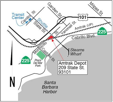 amtrak california station map santa barbara station