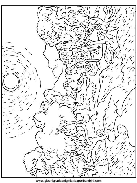 art coloring pages van gogh free coloring pages of famous art