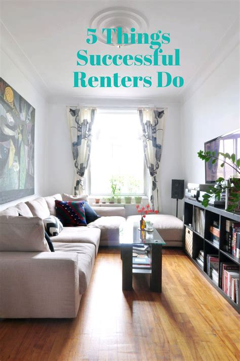 successful renters  narrow living room small