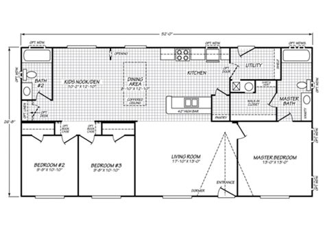 Mfg Homes Floor Plans by Fleetwood Waverly Crest 28523w Strictly Manufactured