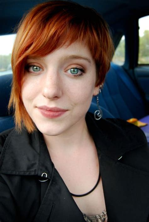 short hair redhead uneven and cute redhead hair pinterest side shave