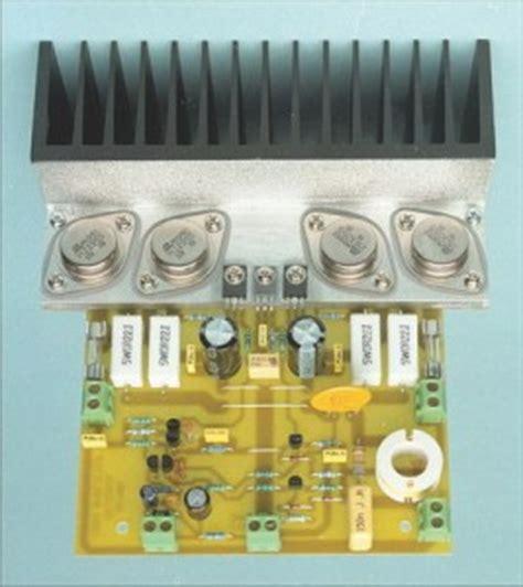 transistor lifier kit 50w 70w power lifier with 2n3055 mj2955 electronic