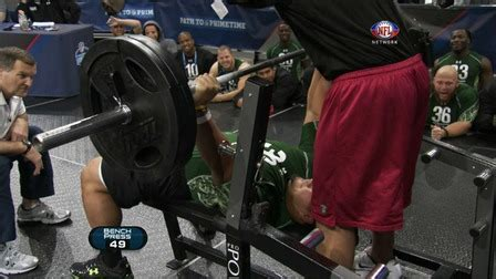 stephen paea bench press record stephen paea sets bench press record at nfl scouting