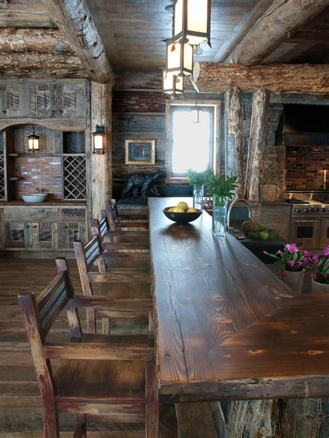 44 Reclaimed Wood Rustic Countertop Ideas Decoholic Rustic Kitchen Countertops