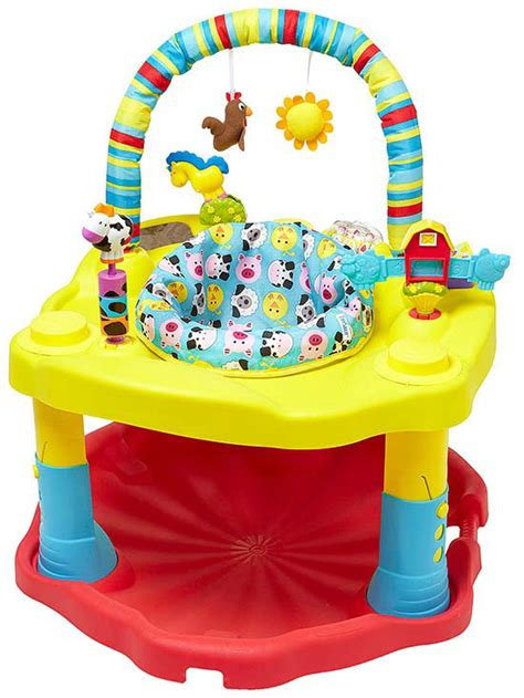 stationary activity centers  excersaucers  baby