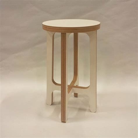 birch plywood stool or side table by soap designs