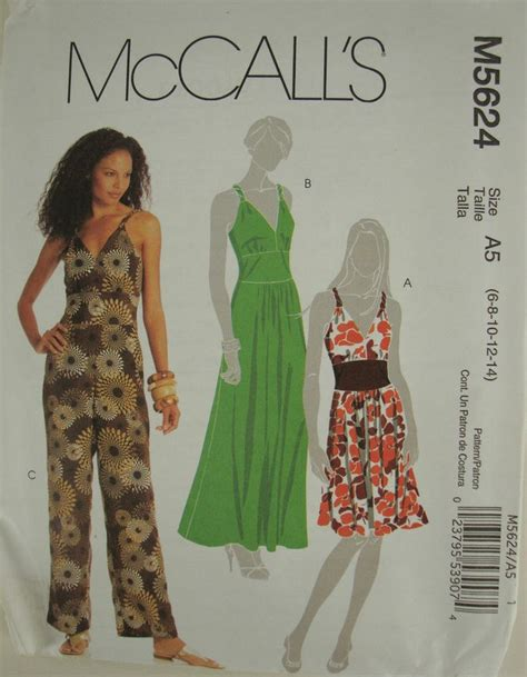 jumpsuit pattern mccalls mccalls jumpsuit romper pleated dress m5624 uncut sewing