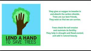 Plant Trees Save Environment Essay by Save Trees Poem For