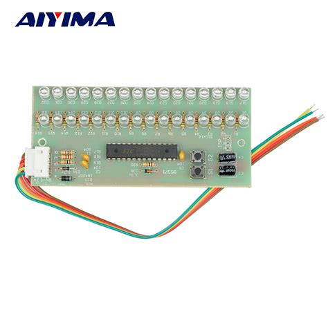 Lu Led 1 Meter aiyima mcu adjustable display pattern led vu meter level indicator lifier audio 16 led dual