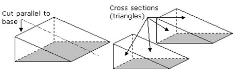 cross section of a triangular prism surface area of prisms with worked solutions videos