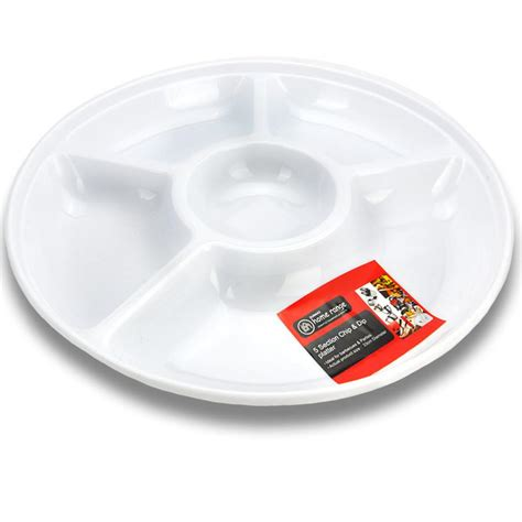 serving platters with sections serving platter round 5 section chip dip plastic