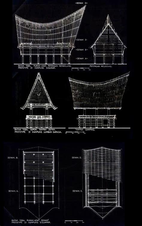 rumah adat plan section elevation googleda ara basic pinterest arquitectura arquitectura vernacula arquitectonico