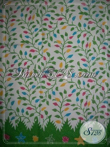 Batik Katun Motif Daun Pejabat batik motif daun warna hijau cerah k1186p toko batik