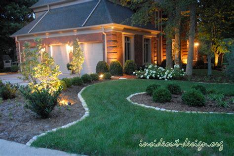 landscape lighting driveway front driveway reno inside out design