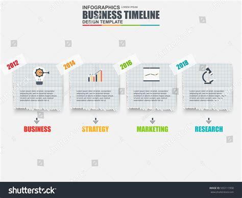 Infographic Business Timeline Data Visualization Vector Stock Vector 555111958 Shutterstock Timeline Design Template