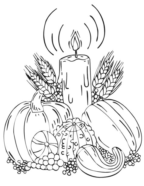 autumn coloring page fall harvest vegetables