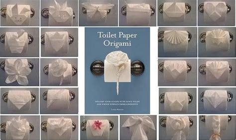 Toilet Paper Origami Book - ways to fold toilet paper maybe for the guest bathroom