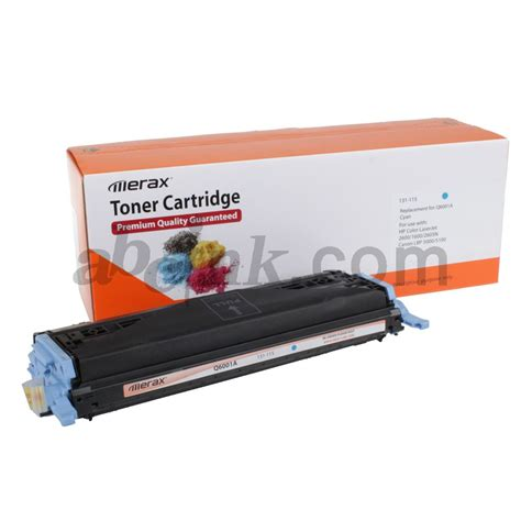 Toner Q6001a 4 pack remanufactured laser toner cartridge combo for hp