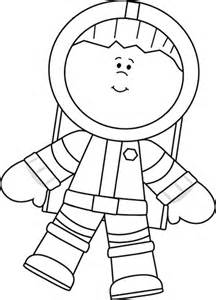black and white boy astronaut floating clip art black