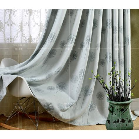 country curtains on sale gray botanical jacquard linen cotton blend country long