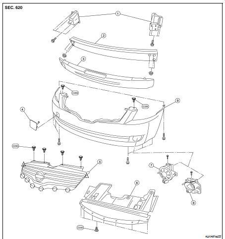 Nissan Altima 2007 2012 Service Manual Front Bumper On