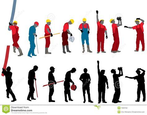libro les travailleurs de la travailleurs de la construction illustration de vecteur illustration du construit