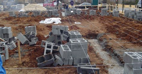 How To Lay A Foundation For A House by Concrete Block Foundation Walls