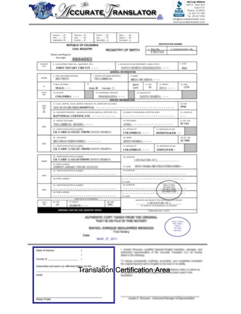 birth certificate translation template birth certificate translations mexican birth