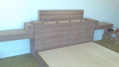 headboard with secret compartment black walnut king bed with hidden compartments and