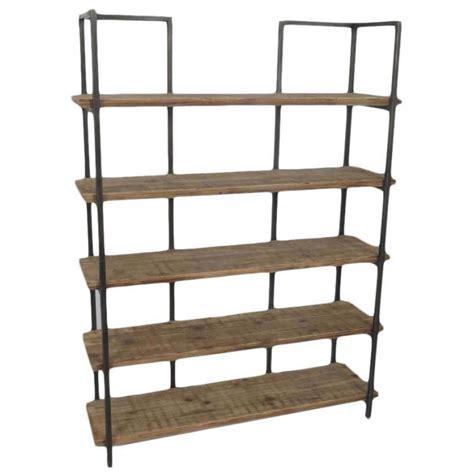 scaffale libreria libreria industrial in metallo e legno