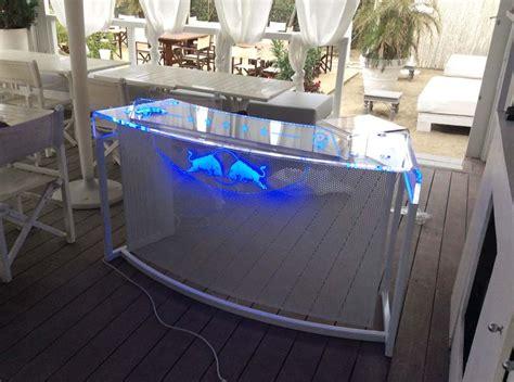 tavolo consolle dj consolle deejay trasparente luminosa a led plexiglass