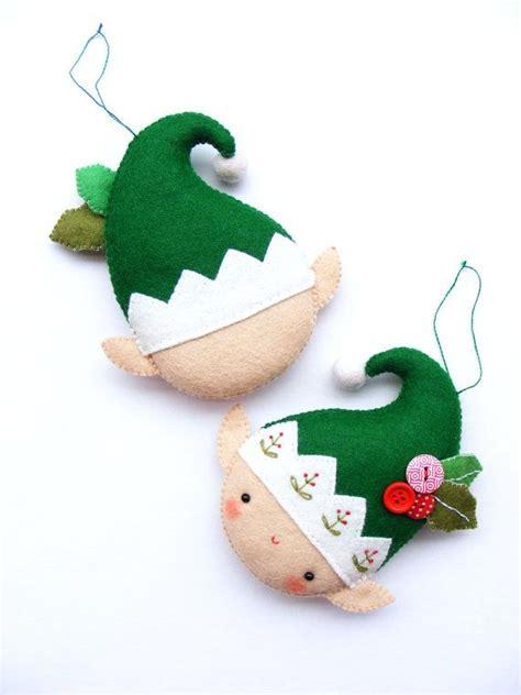 patterns felt christmas tree ornaments pdf pattern christmas elf felt christmas ornament by