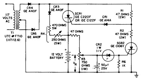 scr controlled battery charger circuit diagram battery charging regulator circuit diagram world
