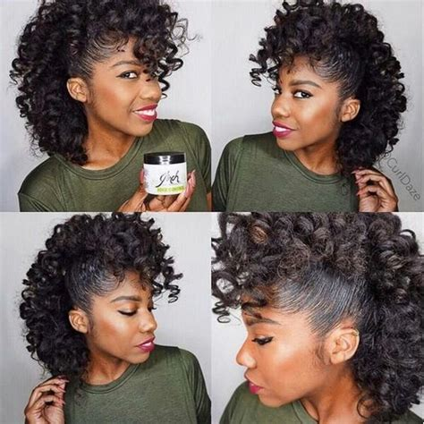 mohawk with flex rods natural flexi rods and hair on pinterest
