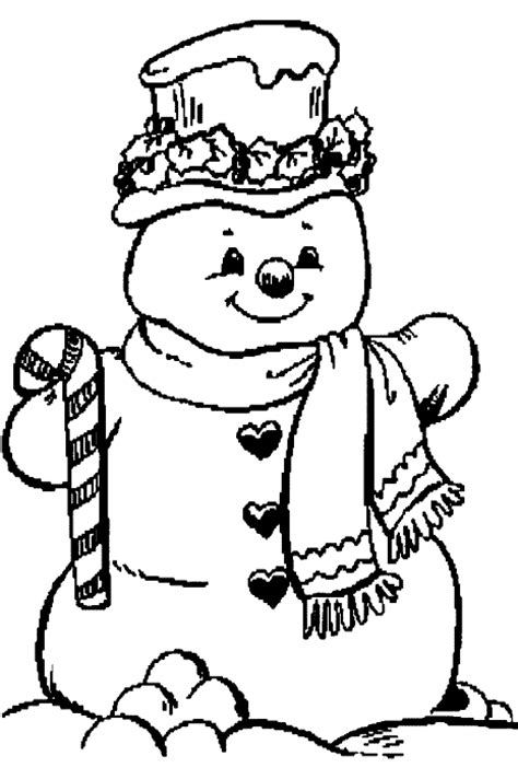 Christmas Snowman Coloring Pages Coloringpages1001 Com Free Snowman Coloring Pages