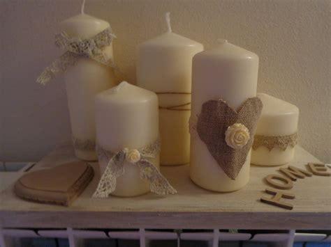composizione di candele candele country composizione per la casa e per te