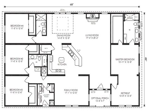 modular home ranch floor plans 5 bedroom modular homesthe 5 bedroom ranch style house