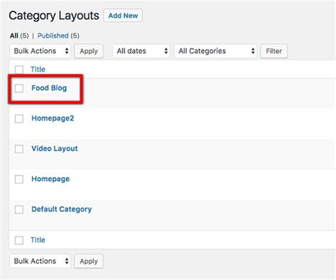 wordpress different layout for category elegant food a free food blog homepage category layout