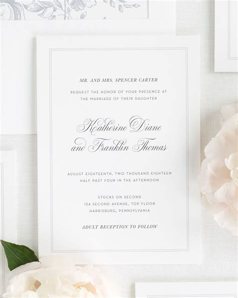 Wedding Invitations Classic by Simply Classic Wedding Invitations Wedding Invitations