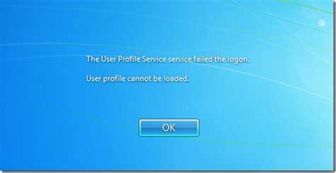 windows vista profile password reset the user profile service failed to logon david vielmetter