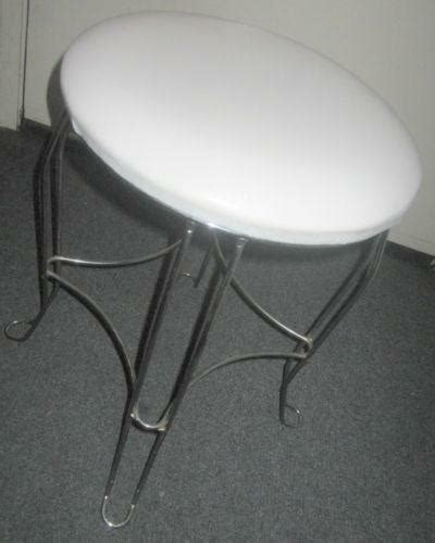 White Metal Vanity Stool by Metal Vanity Stool Ebay