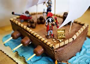 piratengeburtstag kuchen pirate ship cake baked