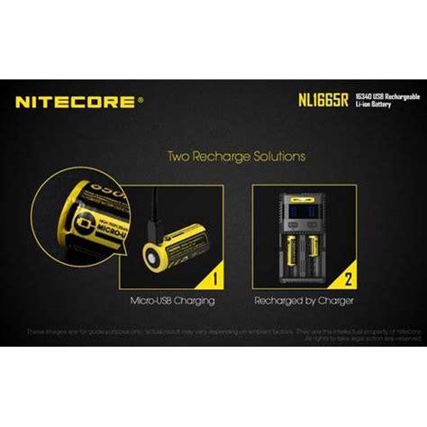 Nitecore 16340 Micro Usb Rechargeable Li Ion Battery 650mah Nl1665r nitecore 16340 micro usb rechargeable li ion battery 650mah nl1665r black jakartanotebook