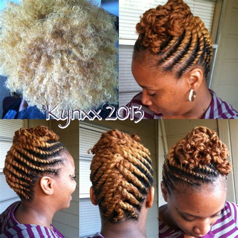 updo transitional natural hairstyles for the african american woman 2015 blondie flat twist updo makin my livin pinterest