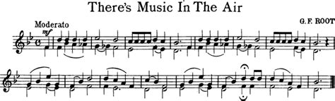 music in s there s music in the air free violin sheet music