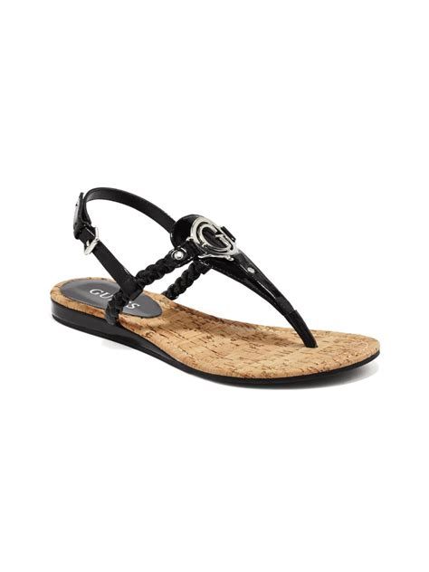 sandals guess guess johni flat sandal