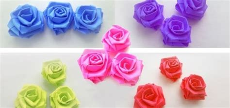 Paper Strips Crafts - how to make small paper roses with paper strips paper