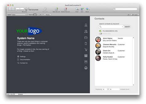filemaker pro 12 templates seedcode complete filemaker template