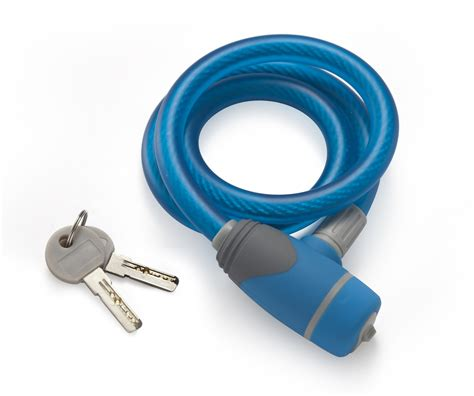 Lock Spiral With Key Number Light lock cable spiral 10mmx750mm w 2 blue in guage brand